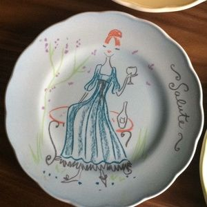 Anthropologie Dining - Anthropologie Set of 4 Italian Lady Plates